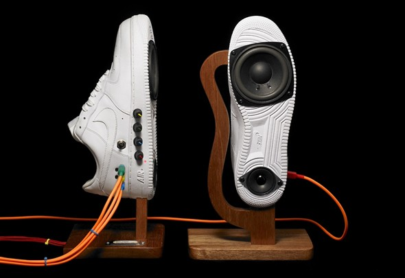 Sneaker Speakers par Alex Nash Journal du Design
