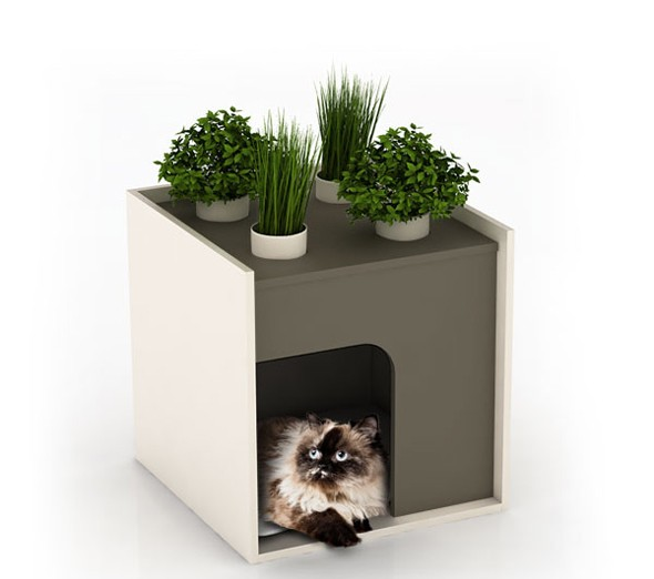 Pousse cr ative l 39 habitat prend vie journal du design for Niche exterieur chat