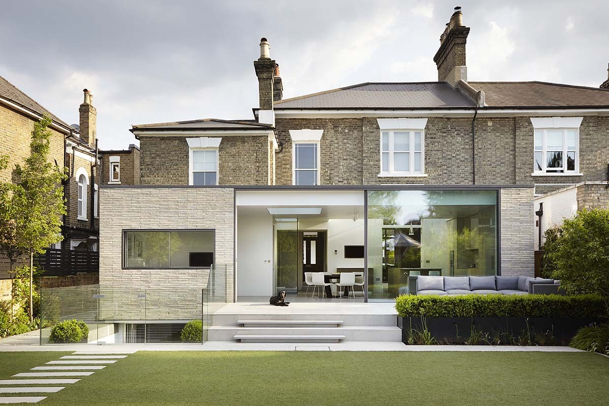 White lodge r novation et extension d une maison londres par studio octopi - Maison victorienne londres ...