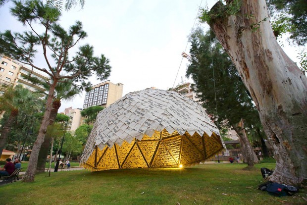The Paper Dome à Beyrouth par Atelier YokYok pour Art in Motion Exhibition