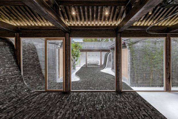 Twisting courtyard, rénovation d?une maison traditionnelle chinoise par ARCHSTUDIO