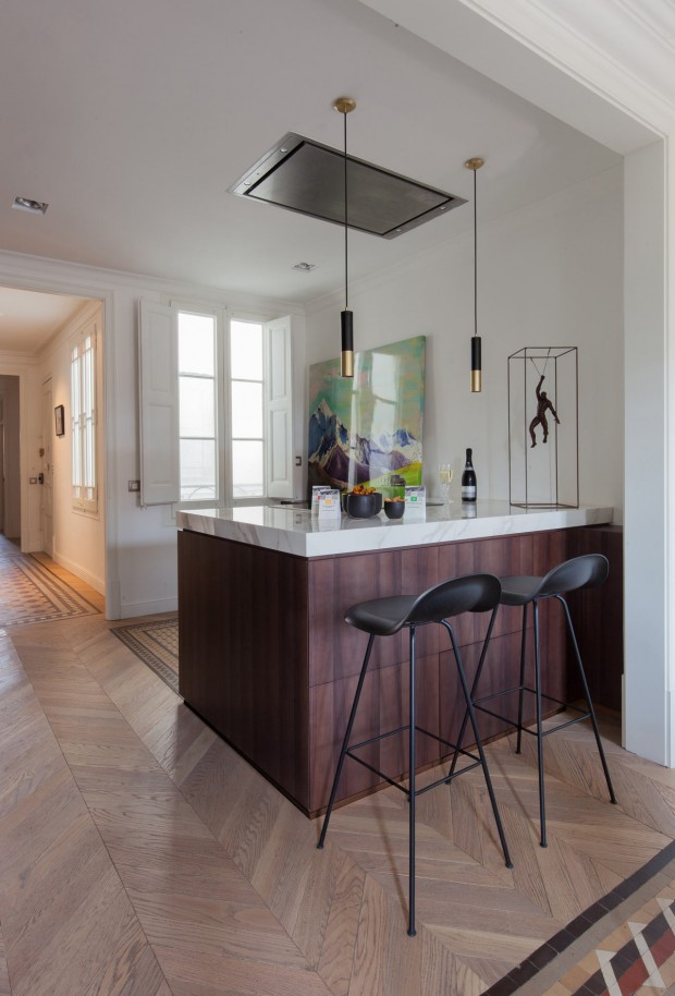 Aribau Appartement, rénovation de 163 m2 à Barcelone par YLAB