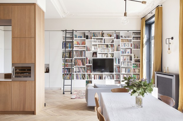 Aménagement d?un appartement haussmannien à Paris par Camille Hermand Architectures
