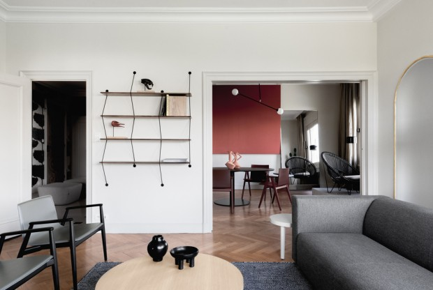 Grande Bretagne, rénovation d?un appartement à Lyon par l?Ensemblier