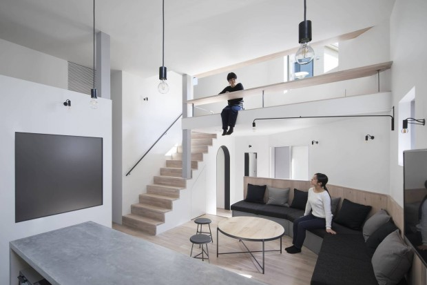 Zeze Osaka, sharehouse dans un quartier résidentiel au Japon par SWING